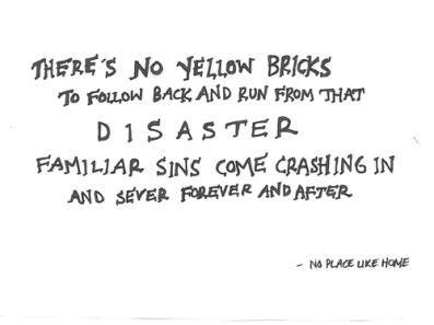 disaster yellow bricks