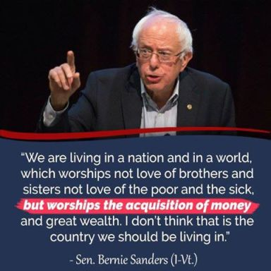 bernie money worships USA