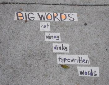 words big brevity