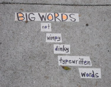 words big brevity