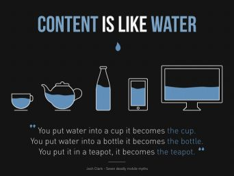 content is like water social