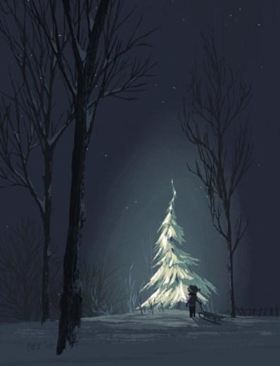 one tree christmas winter