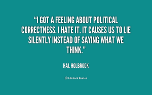political correctness holbrook think