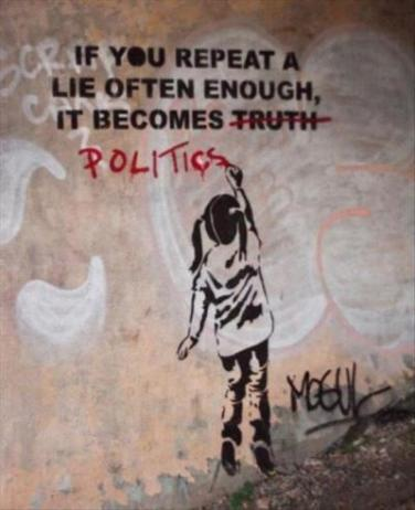 politics lies and truth and repeating