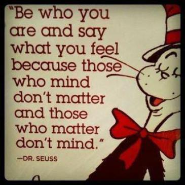be who you are  cat in hat suess