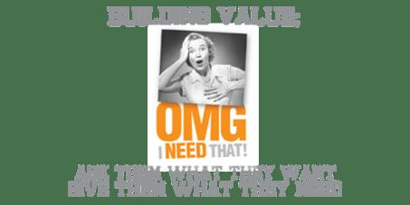 want need value