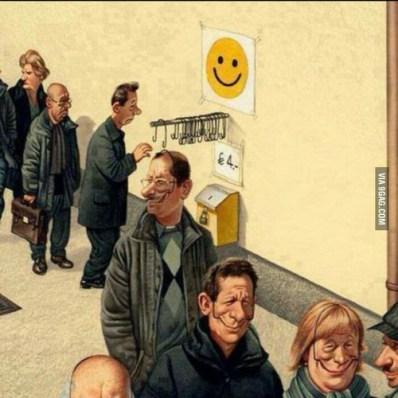 smile negative employee business fake