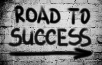road to success business graffiti
