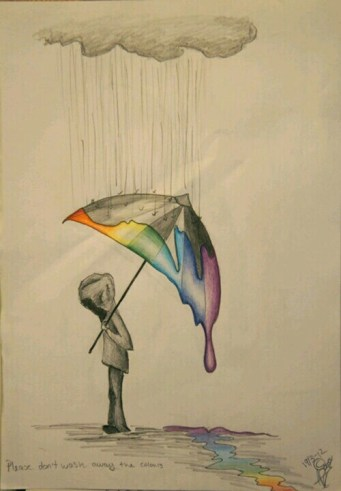 please do not wash away the colors of life sad