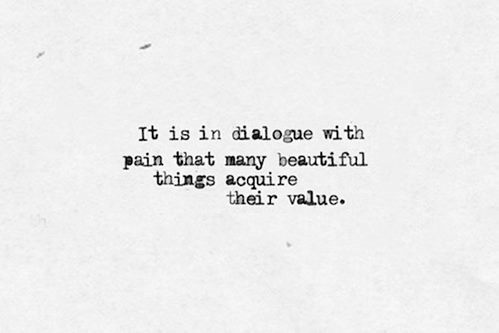 dialogue with pain
