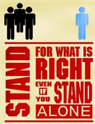 stand for what is right i will be defined now