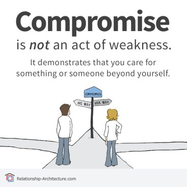 compromise not an act weakness