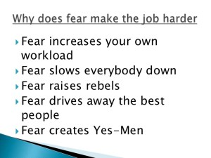fear in business leadership