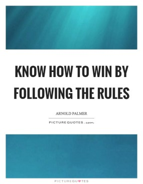 following the rules