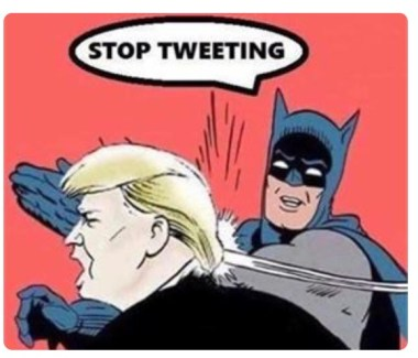 stop tweeting trump batman