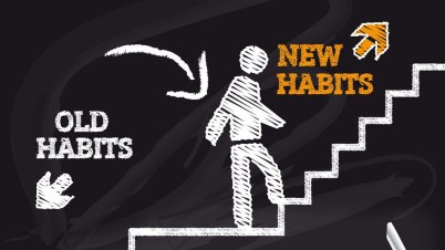 old habits new habits forward back progress life choice secrets