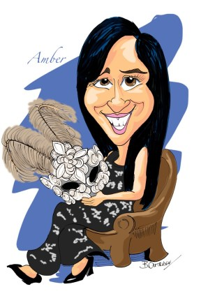 Amber caricature