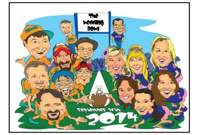 Wedding Party Gift Caricature