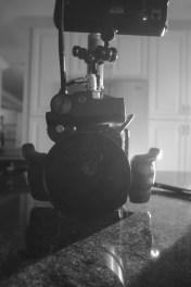 The Alexa MINI, great for handheld shots.