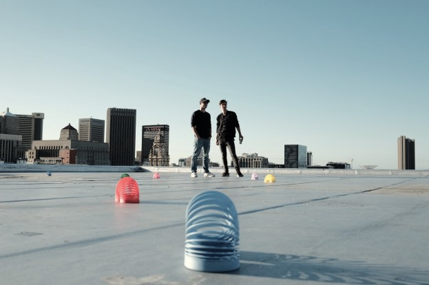 the guys on the roof top