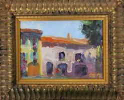2016-43-art-landscapes-stebner-good neighbors, provence-framed