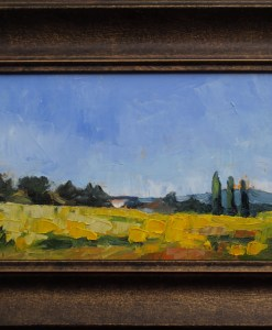 framed France landscape Sunflower Fields Stebner