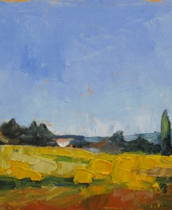 unframed France landscape Sunflower Fields Stebner
