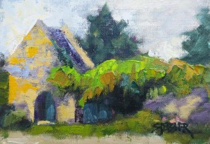 2017-37-art-stebner-landscape-Vines,Pines and Chapel