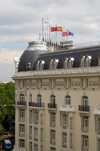 View from our window -The Westin Palace
