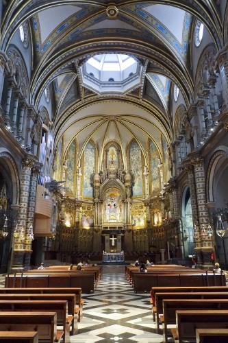 The main altar in Montserrat Monastery
