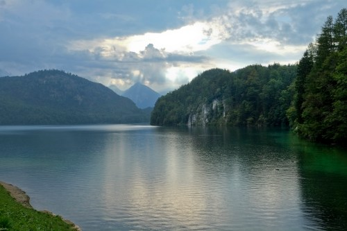 Alpsee from Hohenschwangau Village