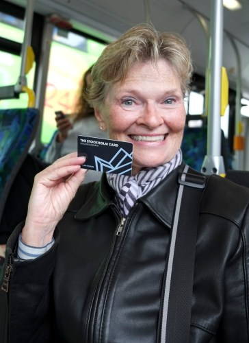 Armed with her Stockholm Card.