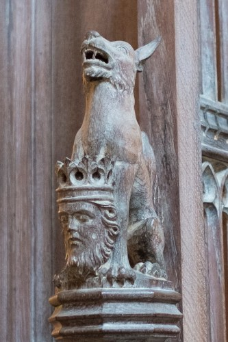The Wolf Stands Guard Over St. Edmund's Severed Head