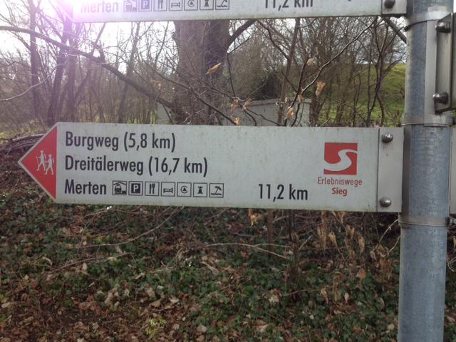 Dreitälerweg Streckenschild