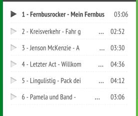 MeinFernbus Songs
