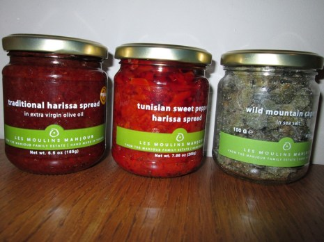 harissa and capers