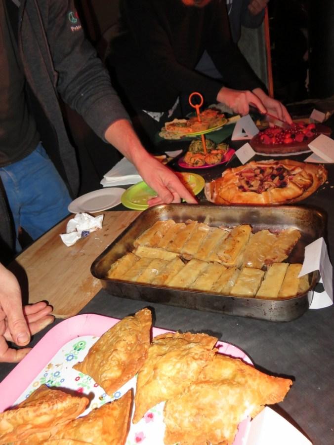 vegan bake sale after the presentation