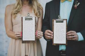 Bruid en bruidegom met checklist