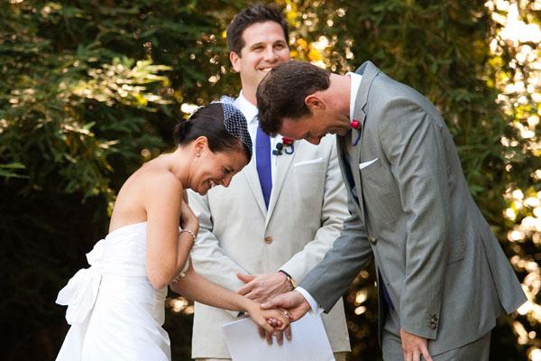bruidspaar en hun BABS