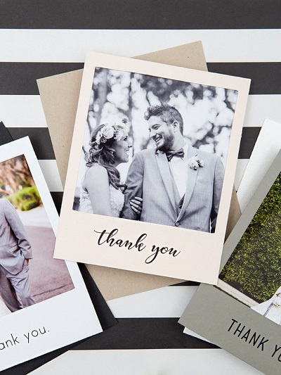 Bedankkaartjes als polaroid