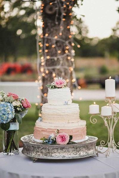 Bruidstaart met structuur