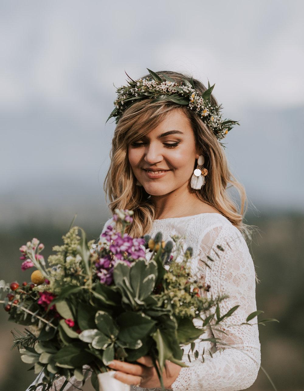 Bloemenkrans bruid