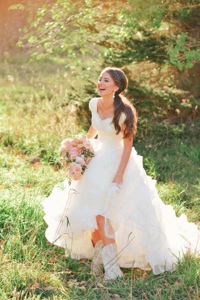 Vaak Trouwjurk met korte mouwen | Bruiloft Inspiratie #EH06