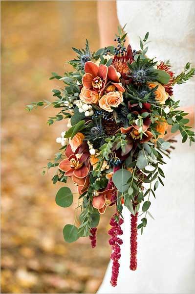 Bruidsboeket herfstbruiloft