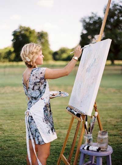 Live schilder 2_Bruiloft Inspiratie