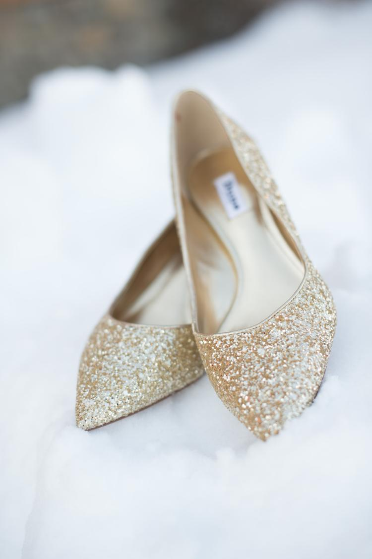 Trouwschoenen als touch of gold