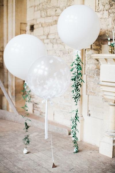 Grote ballonnen als decoratie