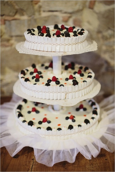 Cheesecake bruidstaart