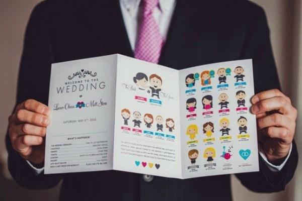 Zeer 5 Leuke programmaboekje ideeën voor jullie bruiloft | Bruiloft @MK62