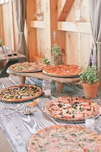Pizza op bruiloft